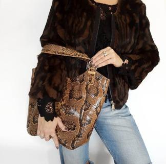 Bea Pälsjacka - Bea jacka leopard L