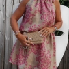 Titti sidenchiffon klänning
