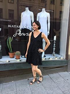 Marie Spetsklänning - Marie svart S