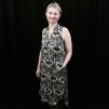 Kerstin ärmlös klänning - Kerstin ärmlös klänning mönstrad L