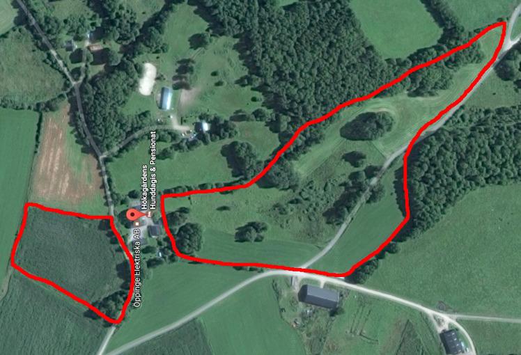 Tillgänglig mark är utmarkerad på bilden