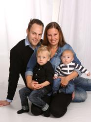 Linda & Dennis med Kevin och Casper