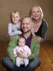 Carita & Stefan med Matilda och Elina