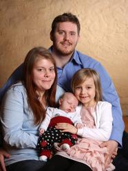 Anton & Jessica med Albin och syskon Wilma