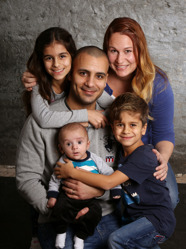 Camilla & Rikard med Oliver och syskonen Emilie ,Marcus