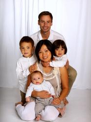 Anders & Michelle med Milton och Oscar & Novalie