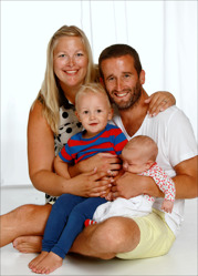 Karin & Nathan med Junie och Rufus