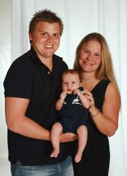 Emma & Victor med Theodor