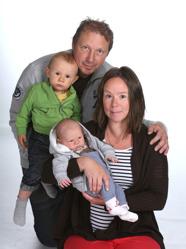 Therese & Mikael med Erik och Kalle
