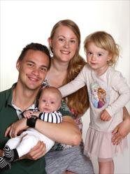 Jaanne & Anders med Julius och Stella