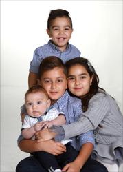Thomas & Linda med David,syskonen Lucas, Julia, Matteus