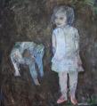 Flickan och elefanten 76X82