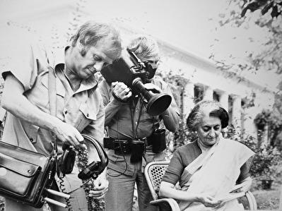 Bengt, Åke och Indira Gandhi i Indien.