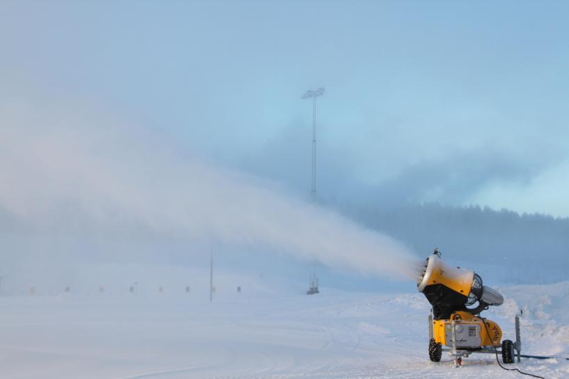 Snötillverkning, Valberget Torsby.