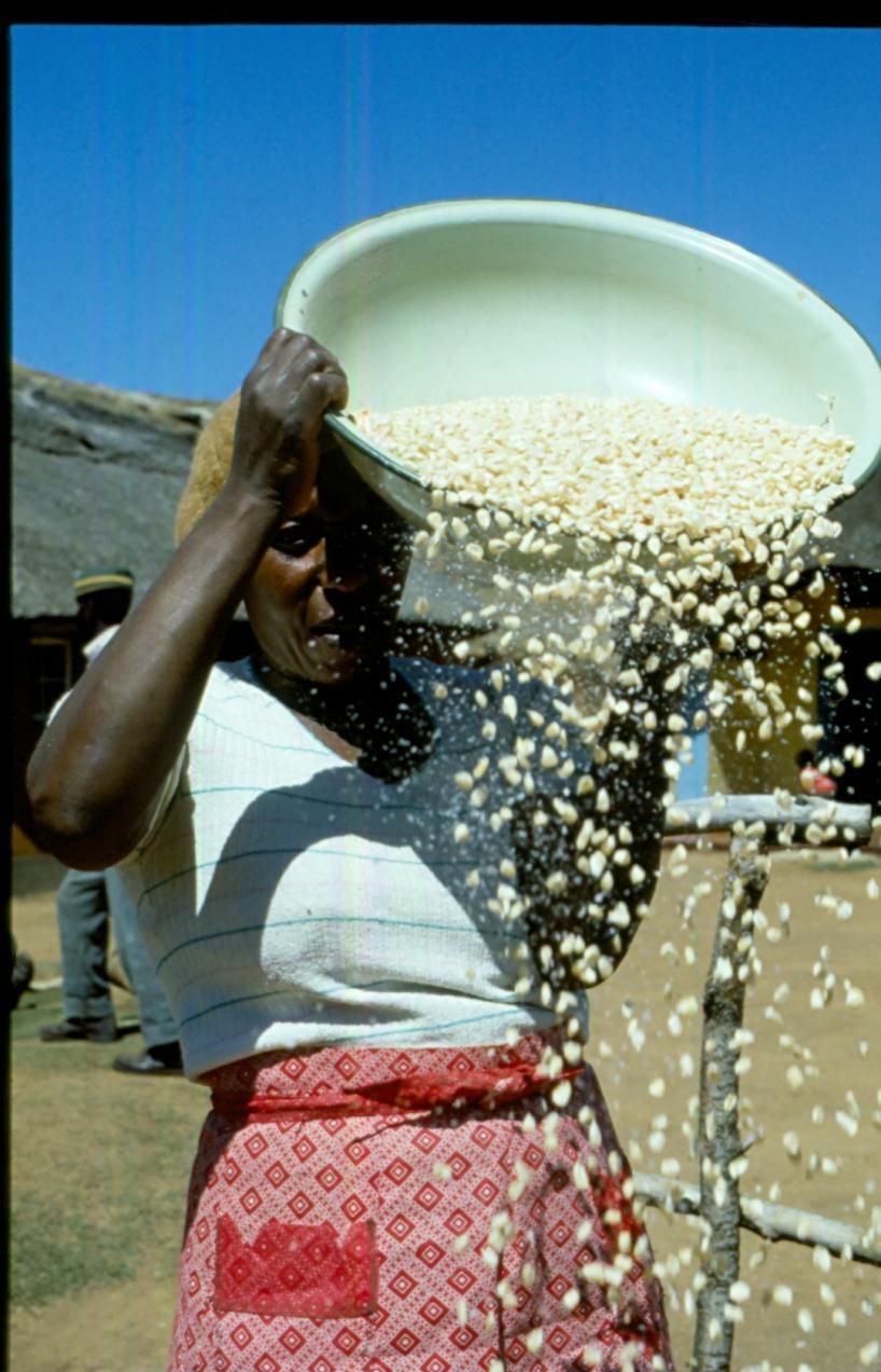 Kvinna i Lesotho.