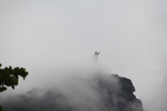 Cristo Redentor i dimma.