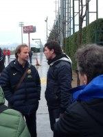 Marcel Sans tränare för FCB:s 13 åringar tillsammans med Miguel.