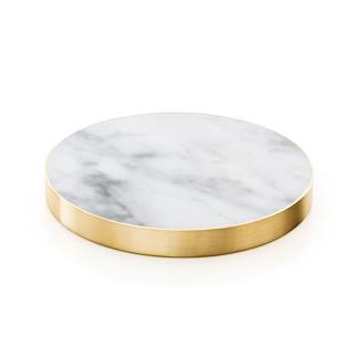 4 st Glasunderlägg Carrara marmor