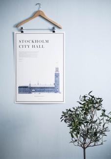 Print, Stockholm city hall - Stockholm City Hall
