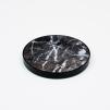 4 st Glasunderlägg svart marmor