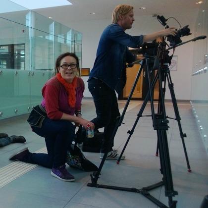 Filminspelning av film beställd av Psykiatrins Hus i Uppsala. Annette Stavenow Eriksson på StoneGate productions regisserar filmen.