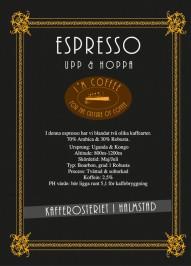 Espresso Blend 70/30 - Hela bönor 1kg