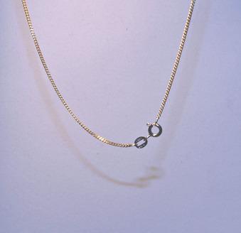 Kedjor guld - Pansarlänk guld 38 cm