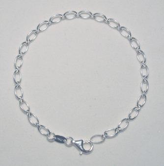Armband silver - Berlockarmband 18 cm