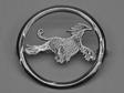 Afghan nål med cirkel silver