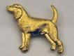 Beagle Brosch Kenart - Beagle guldfärgad