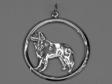 Berner Sennenhund hängsmycke med cirkel silver