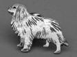Cavalier King Charles Spaniel pin silver
