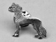 Chinese Crested Dog pin silver