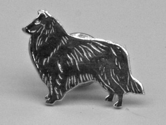 Collie pin - Silver