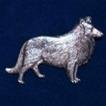 Collie Brosch Kenart - Collie silverfärgad