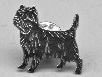 Cairnterrier pin - Silver