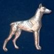 Doberman Brosch Kenart - Doberman silverfärgad