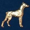 Doberman Brosch Kenart - Doberman guldfärgad