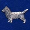 Cairnterrier Brosch Kenart - Cairnterrier silverfärgad