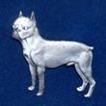 Bostonterrier Brosch Kenart - Bostonterrier silverfärgad