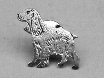 Cocker Spaniel pin - Silver Old