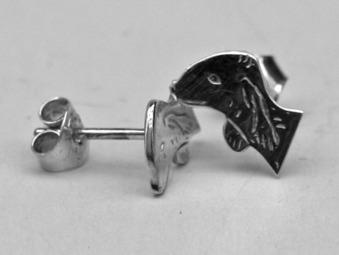 Bedlingtonterrier örhänge huvud par - Silver
