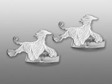 Afghan manschettknappar par silver