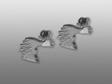 Afghan örhänge huvud par