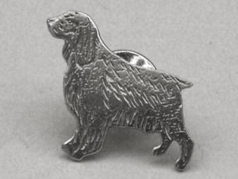 Engelsk Springer Spaniel pin - Silver