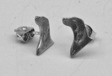 Flatcoated Retriever örhänge huvud par silver
