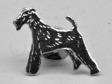 Foxterrier pin silver