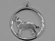 Labrador Retriever hängsmycke med cirkel silver