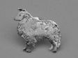 Shetland Sheepdog (Sheltie) pin silver