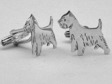 West Highland White Terrier manschettknappar par